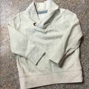 Old Navy cream neck button sweatshirt sz 2t EUC